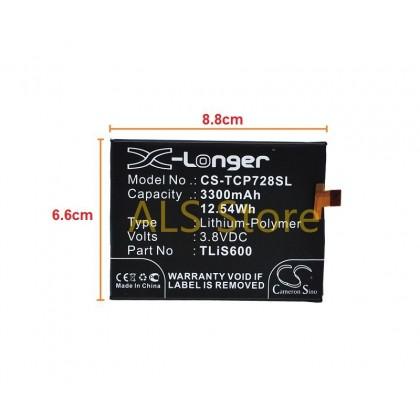 [ORIGINAL] Battery ALCATEL ONE TOUCH FLASH PLUS OT-7054 OT-7054T - TLiS600 - 3300mAh [CAMERON SINO X-LONGER BATTERY SERIES]