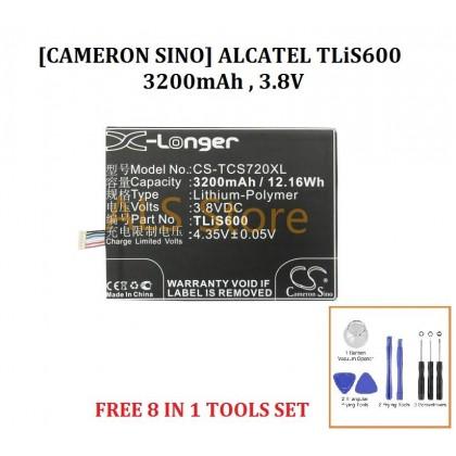 [ORIGINAL] Battery ALCATEL ONE TOUCH FLASH 6042D / TCL S720 S720T S750T S725T - TLiS600 - 3200mAh [CAMERON SINO X-LONGER BATTERY SERIES]