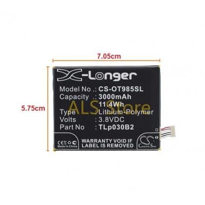 [ORIGINAL] Battery ALCATEL ONE TOUCH FLASH 2 7049D OT-7049D / POP S7 OT-7045 - TLp030B2 / TLp030B1 / C3000003C1 - 3000mAh [CAMERON SINO X-LONGER BATTERY SERIES]